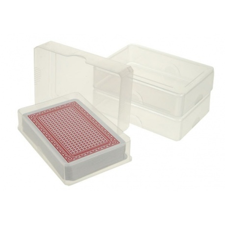 Plastic speelkaarten doosje