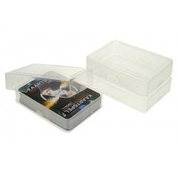 Transparant soft plastic speelkaarten doosje