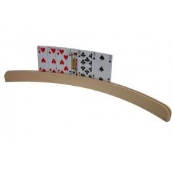 Houten speelkaartenhouder 50 cm.