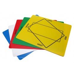 Bridge kunststof tafelblad met dubbelzijdige opdruk