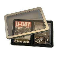 Set speelkaarten D-Day en World War II in blik
