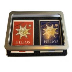 Set Helios speelkaarten in blik