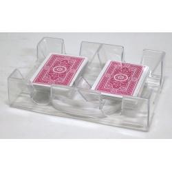 Speelkaartenbakje Canasta dubbel draaibaar