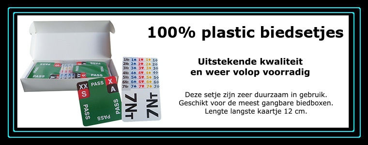 100% plastic biedsetjes